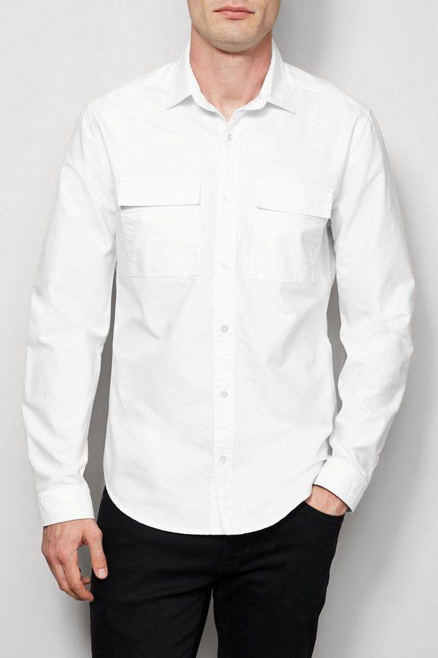 Next Oxford-Hemd mit zwei Brusttaschen in White