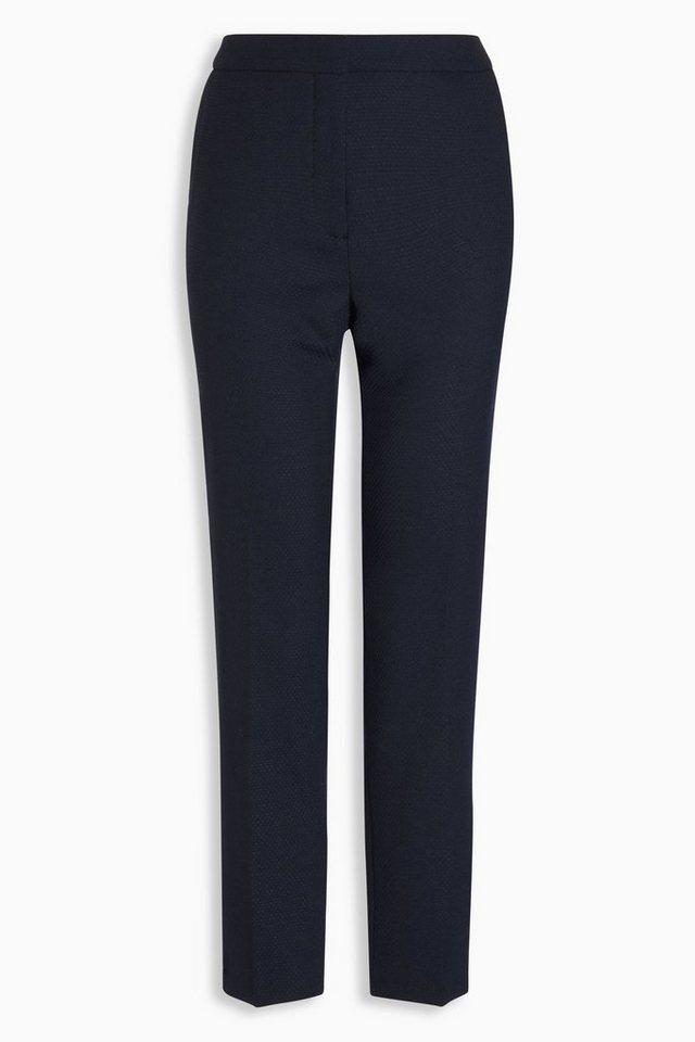 Next Slim-Fit Hose aus strukturiertem Wollgemisch in Navy