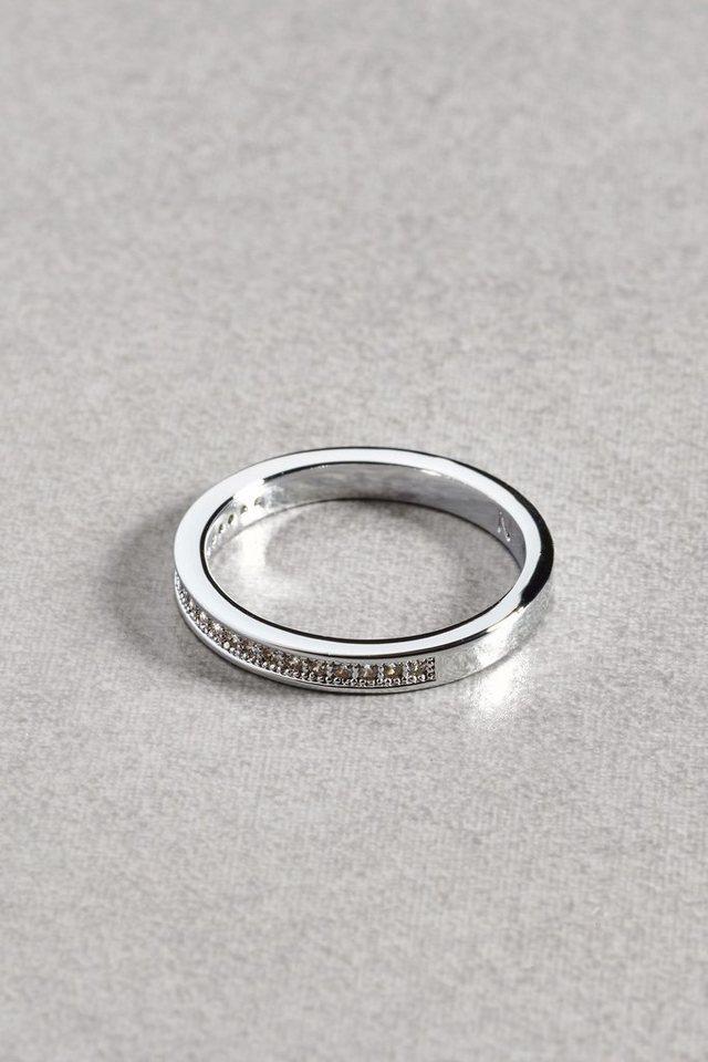 Next Platinierter Ring mit Glitzerdetails in Platinum Plated