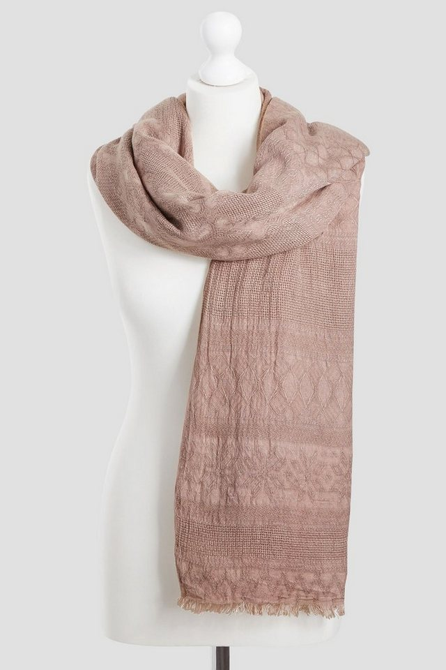 Next Schal mit Jacquardmuster in Blush