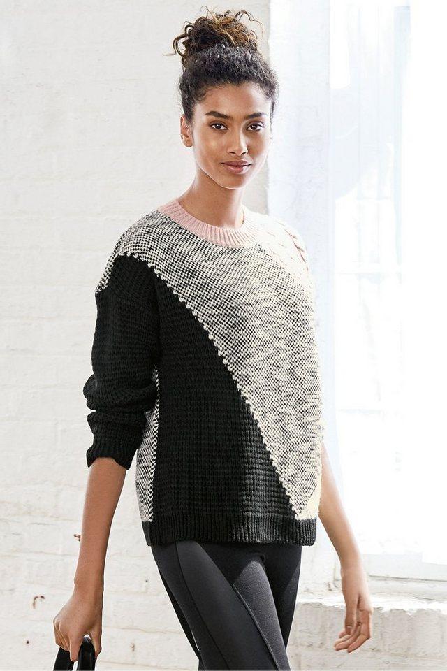 Next Pullover in Patchwork-Optik in Pink