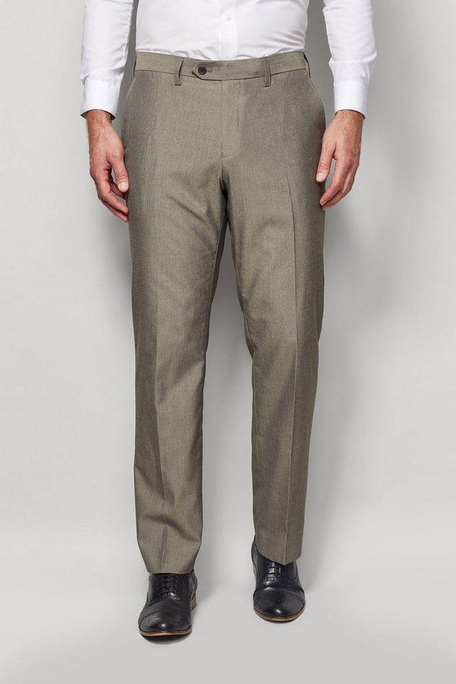 Next Hose mit Flatfront in Taupe Regular Fit