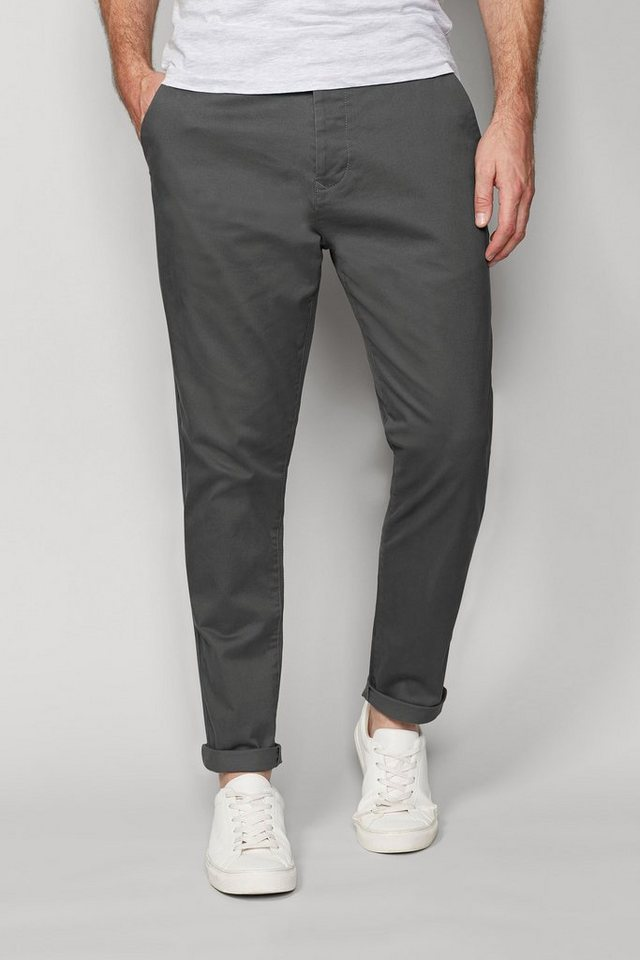 Next Stretch-Chinohose in Grey Tapered Fit