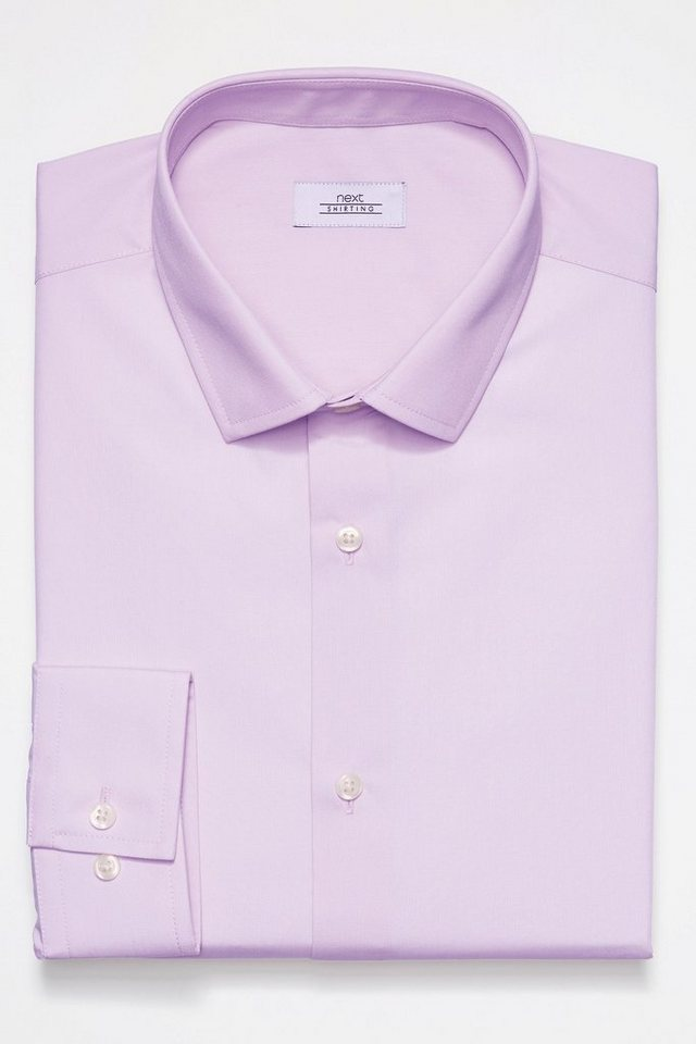 Next Pflegeleichtes Hemd in Lilac Regular-Fit