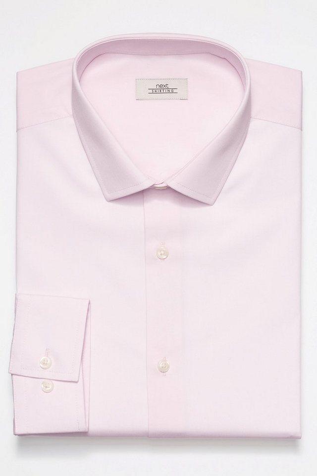 Next Pflegeleichtes Hemd in Pink Reg.-Fit gekn. Man.