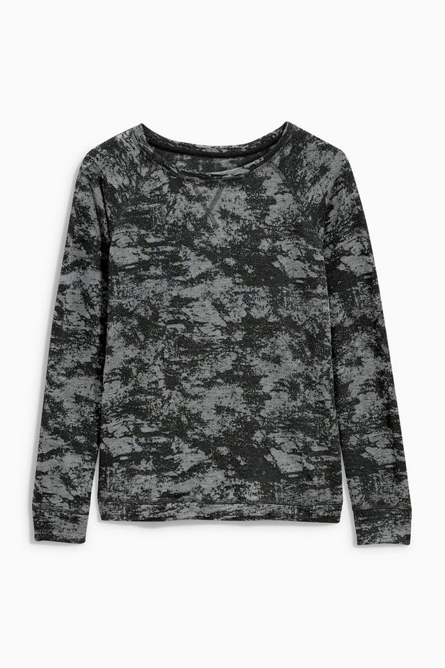Next Sweatshirt mit Ausbrennermuster in Grey/Black