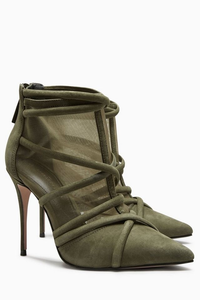 Next Stiefelette in Gitteroptik in Khaki