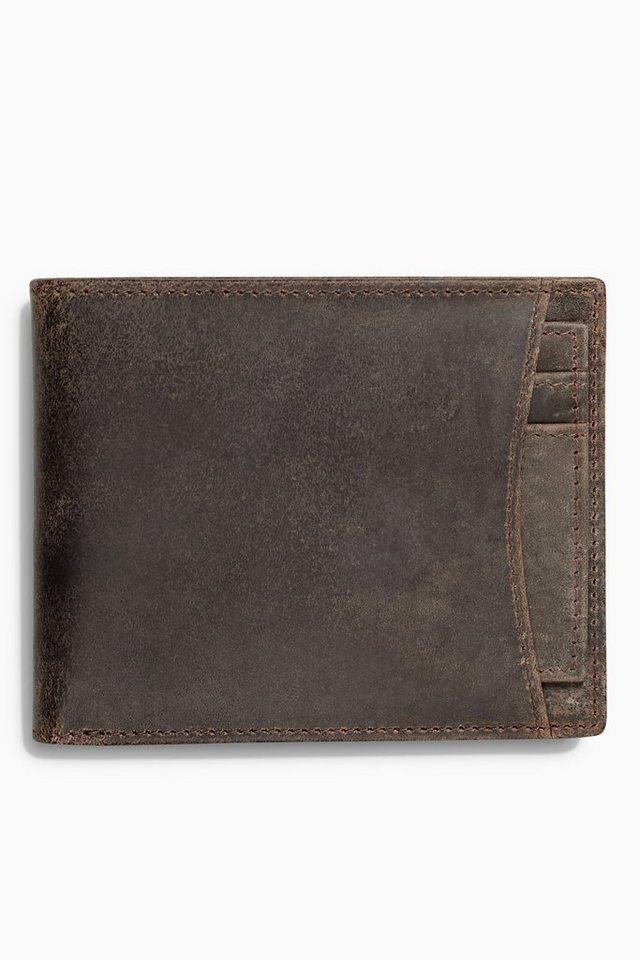 Next Brieftasche aus italienischem Leder in Brown