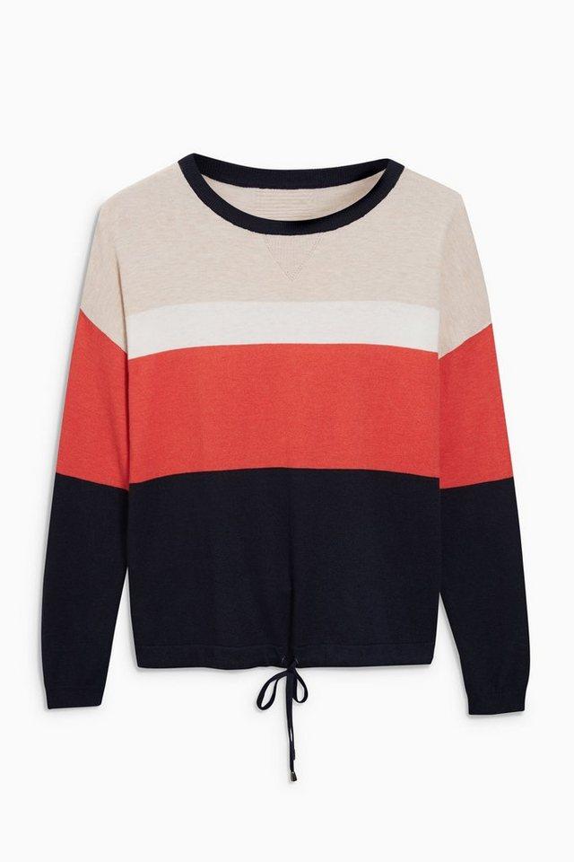 Next Sweatshirt mit Tunnelzugsaum in Red/Blue