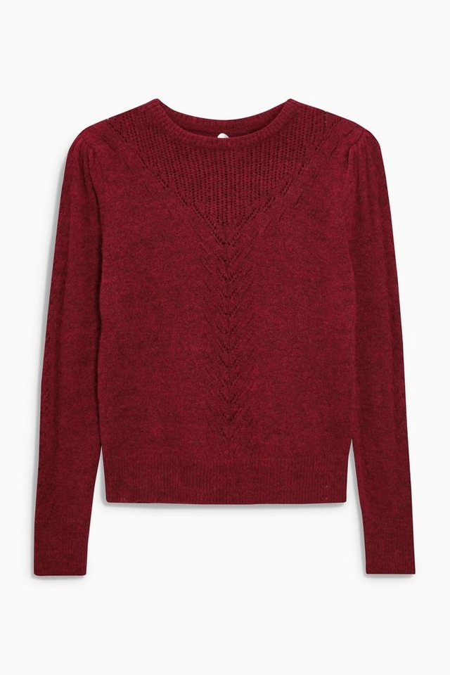 Next Ajour-Pullover in Red
