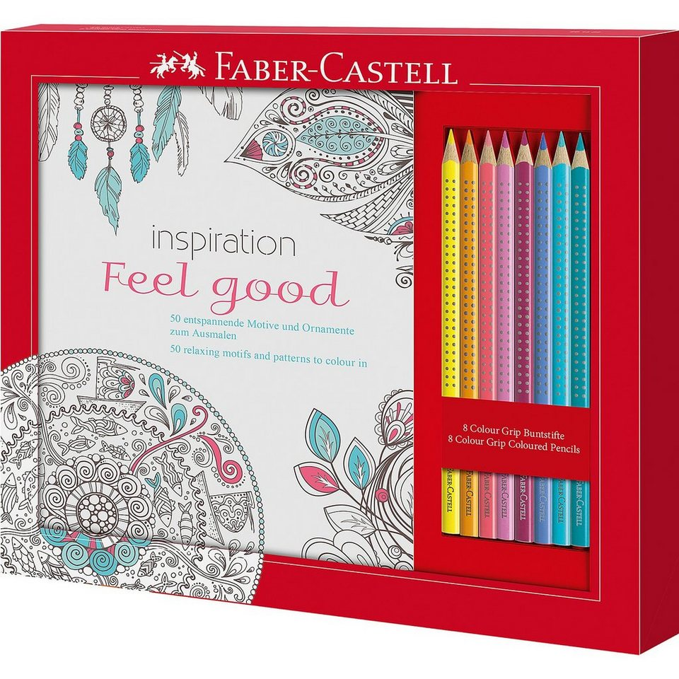 Faber-Castell Malbuchset Feel Good Colour Grip, 9-tlg.