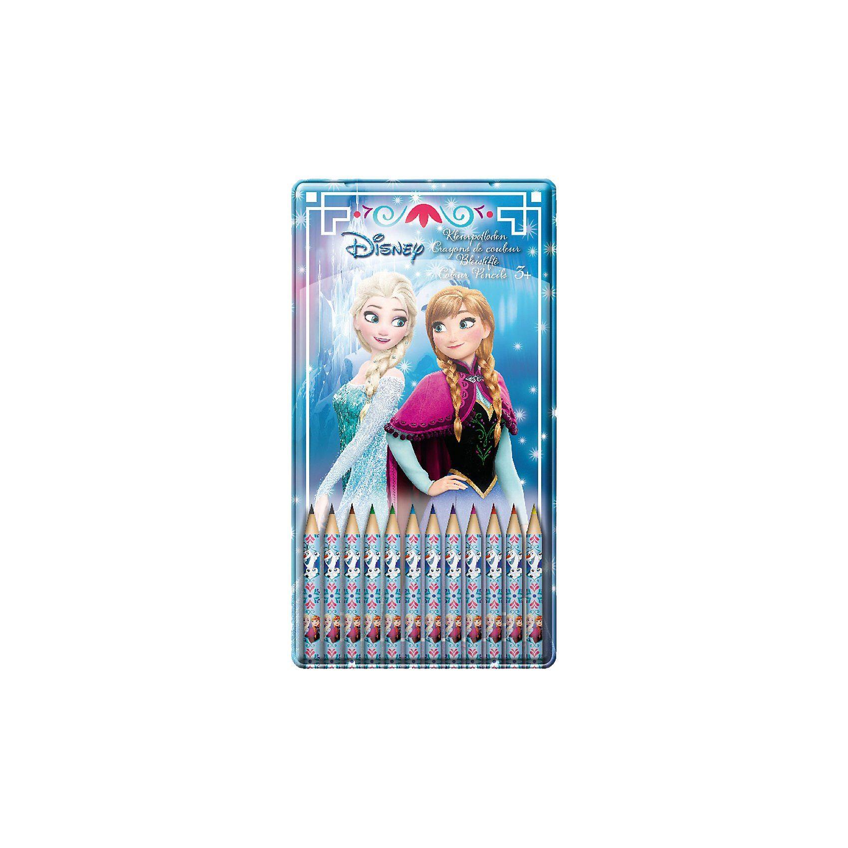 frajodis Buntstifte Disney Die Eiskönigin in Metalldose, 12 Farben