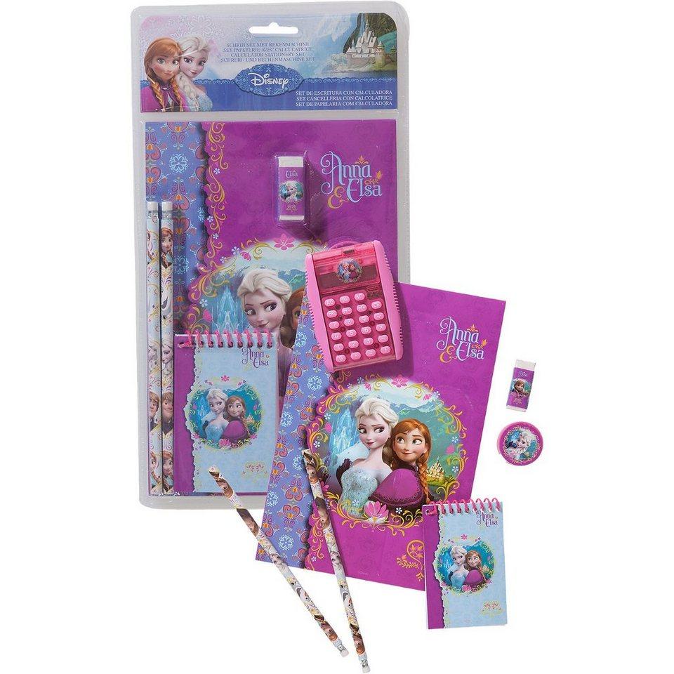 Schulset mit Taschenrechner Disney Die Eiskönigin, 7-tlg.