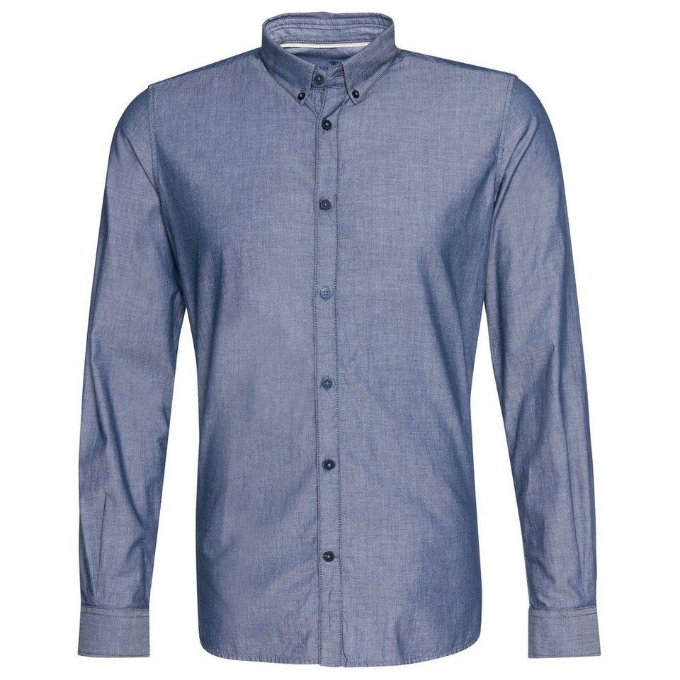 TOM TAILOR Hemd »Floyd indigo look stripe shirt« in navy