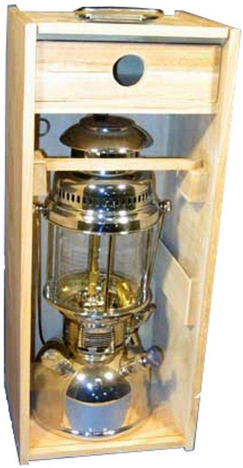 Petromax Camping-Beleuchtung »Holzbox mit Plexiglasscheibe« in braun