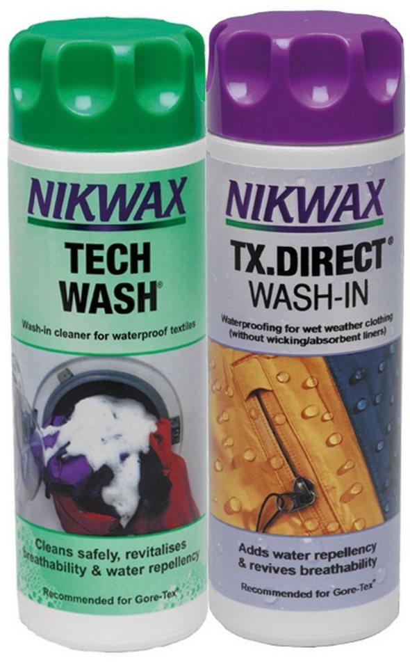 Nikwax Reinigungsmittel »Tech Wash + TX Direct 2x300ml« in grün