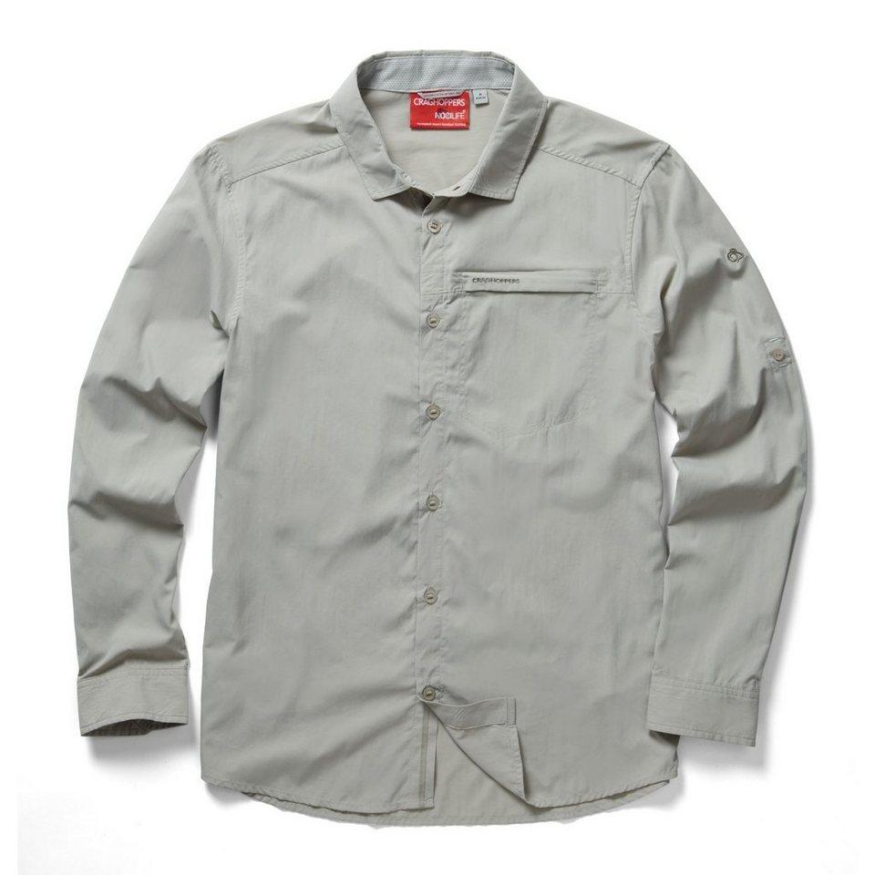 Craghoppers NosiLife Langarm Hemd Zecken und Insektenschutz »Belay « in Parchment