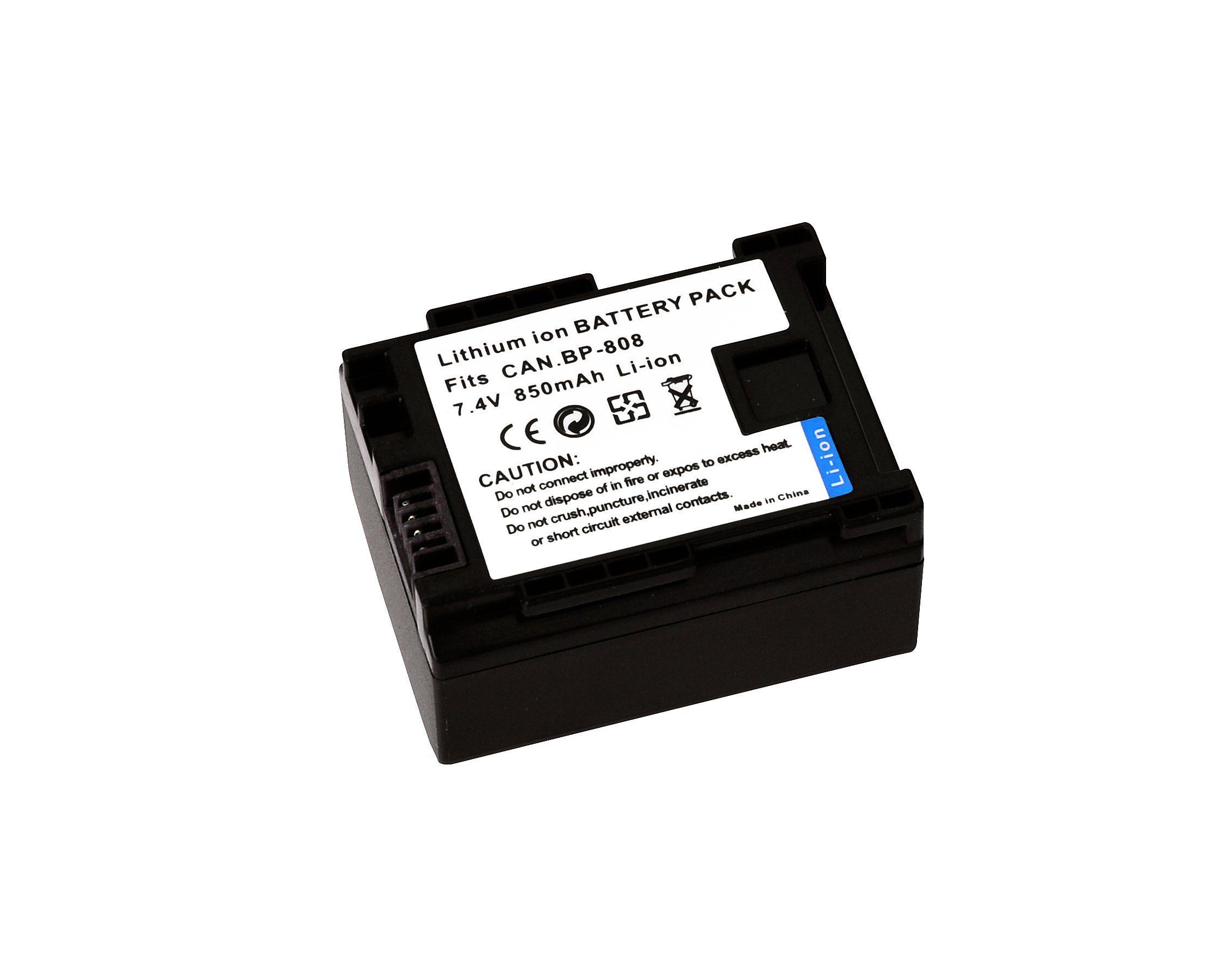 Bresser Akku »BRESSER Lithium-Ionen Ersatzakku für Canon BP-808«