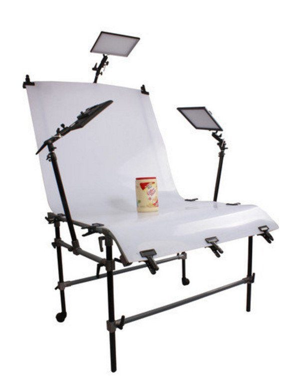 Bresser Fotostudio »BRESSER Aufnahmetisch mit Klemmarmen 110x200cm«