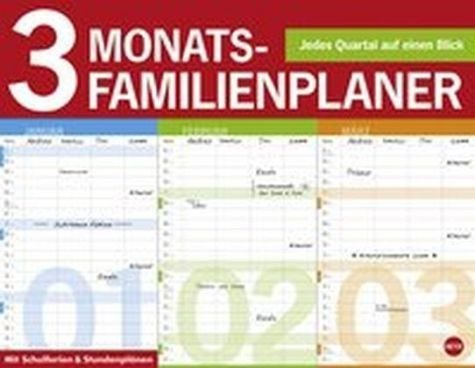 Kalender »3-Monats Familienplaner 2017«