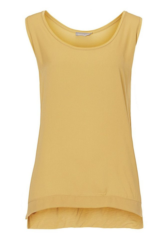Betty&Co Top in gelb - Braun