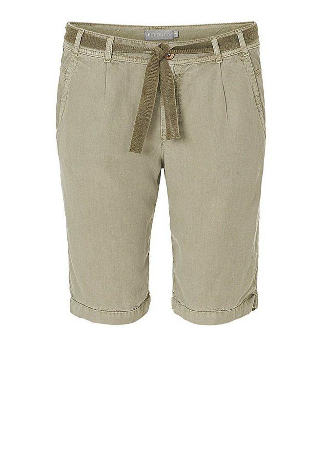 Betty&Co Shorts in beige - Grau