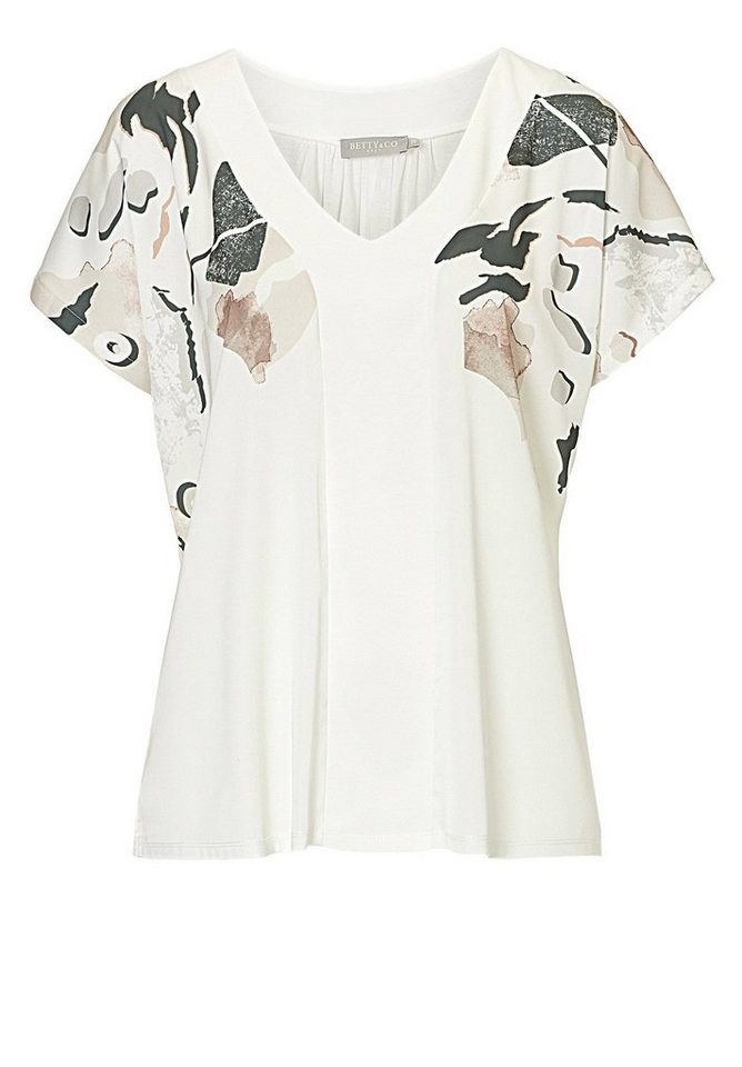 Betty&Co Shirt in Bunt - Weiß