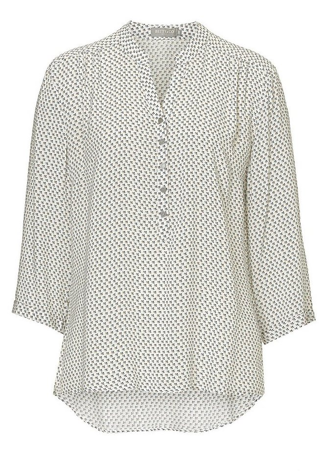 Betty&Co Bluse in Nature-Black - Braun