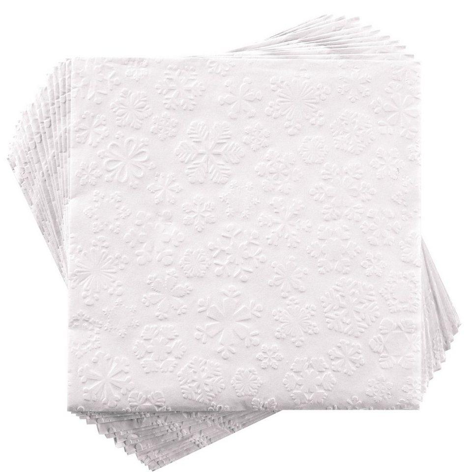 BUTLERS APRÈS »Papierserviette Schneeflocke« in weiss
