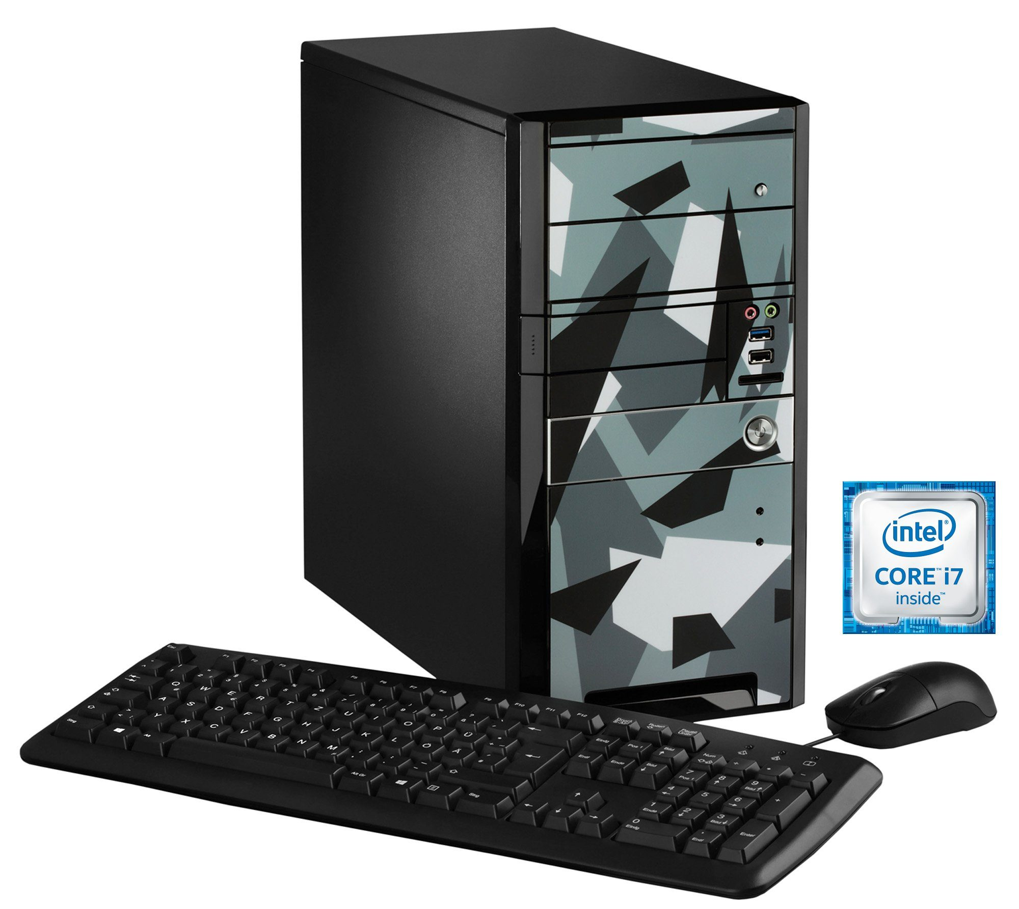 Hyrican Gaming PC Intel® i7-6700, 16GB, SSD + HDD, GeForce® GTX 1070 »Limited Edition - Ice 5288«