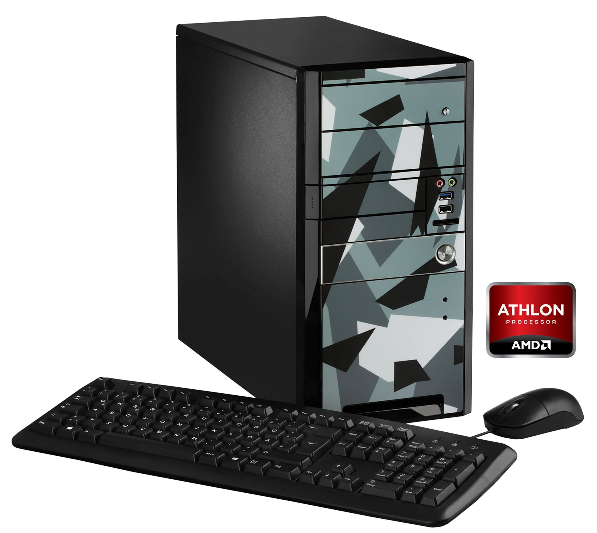 Hyrican PC AMD Athlon X4 880K, 16GB, SSD + HDD, AMD RX460 »Limited Edition - Ice 5284 «