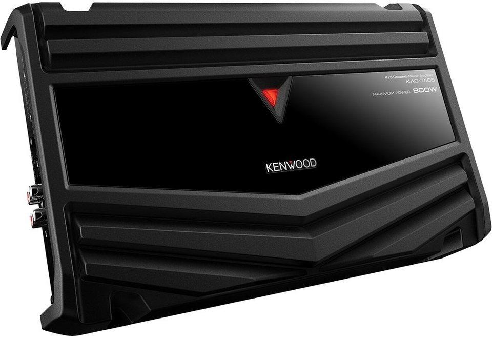 Kenwood Endstufe 4-Kanal »KAC-7406« in schwarz