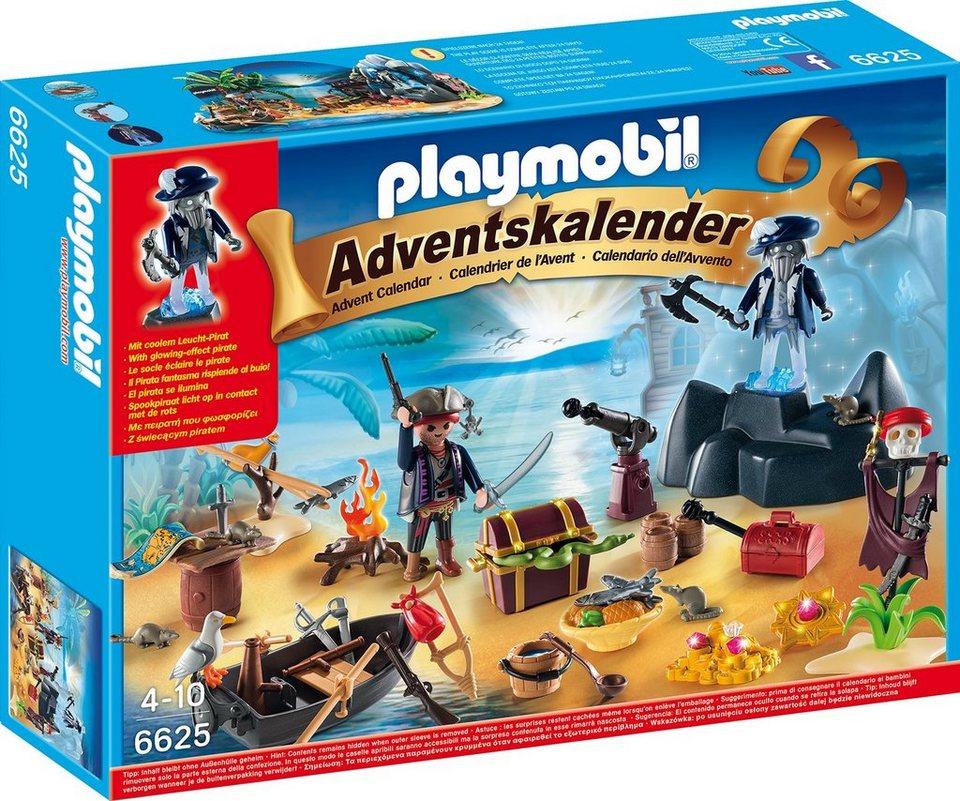 Playmobil® Adventskalender Geheimnisvolle Piratenschatzinsel (6625), »Christmas«
