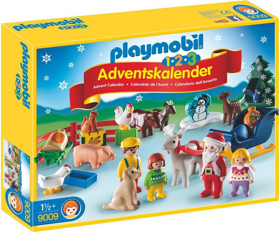 playmobil adventskalender weihnacht auf dem bauernhof 9009 playmobil 1 2 3 online kaufen. Black Bedroom Furniture Sets. Home Design Ideas