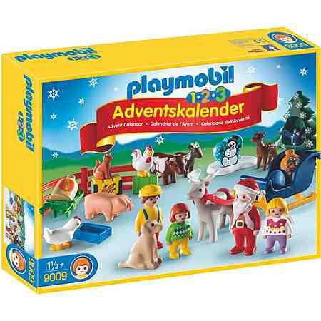 Playmobil® Adventskalender Weihnacht auf dem Bauernhof (9009), »Playmobil 1-2-3«