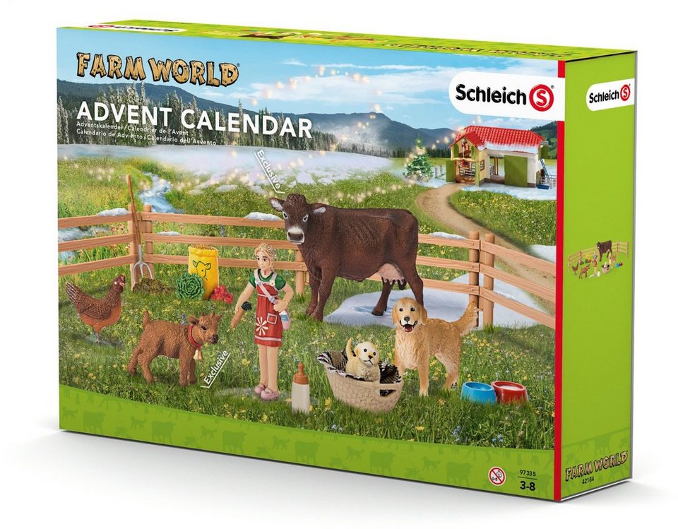 Schleich® Adventskalender (97335), »Bauernhof 2016«
