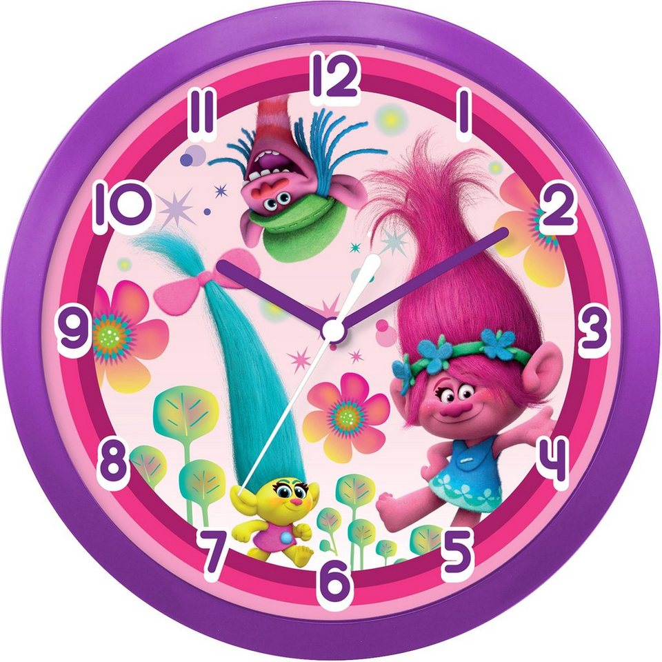 JOY TOY Wanduhr, »Dreamworks Trolls, 67679« in bunt