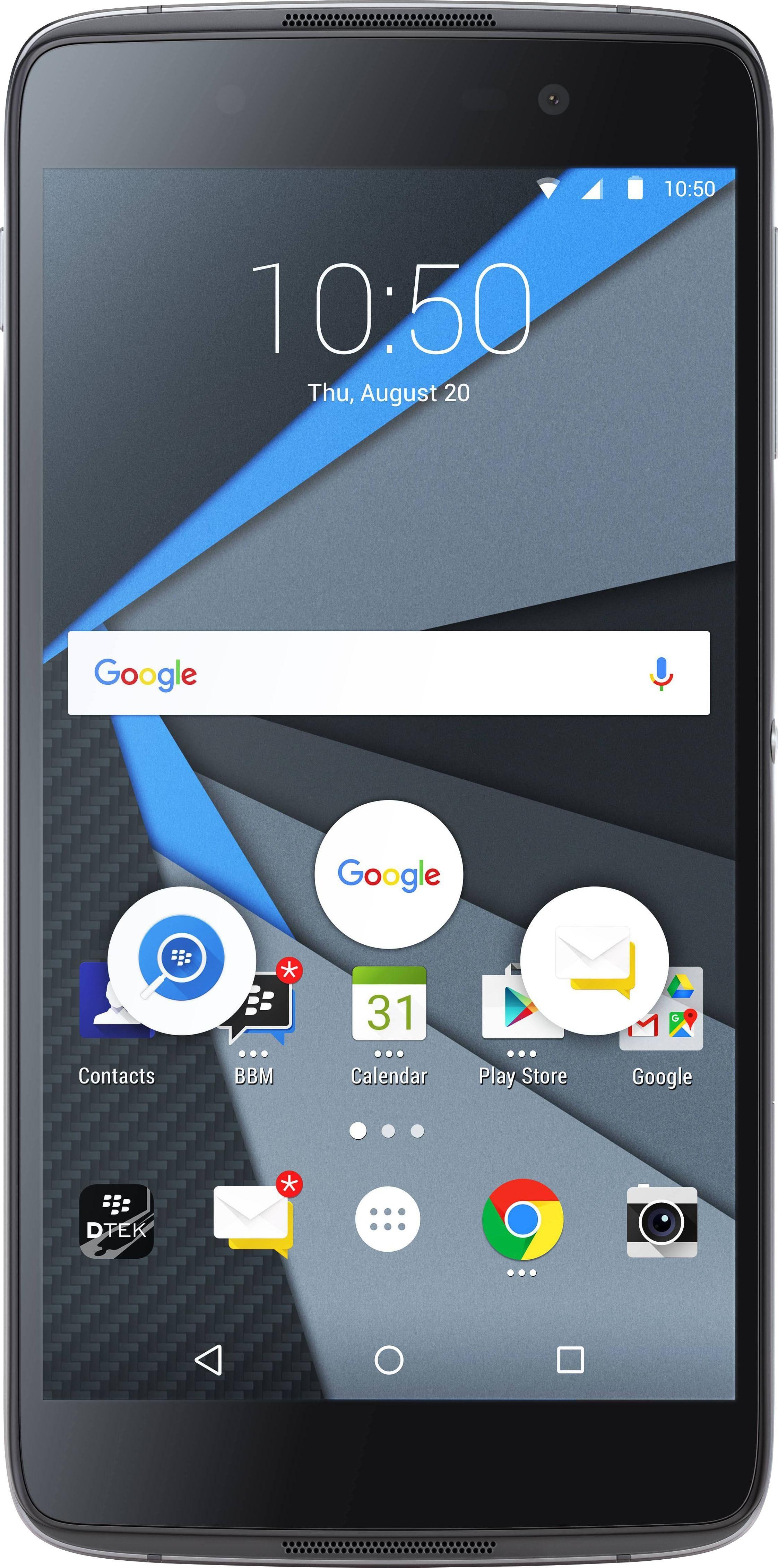 Blackberry DTEK 50 Smartphone, 13,2 cm (5,2 Zoll) Display, LTE (4G), Android 6.0 (Marshmallow)