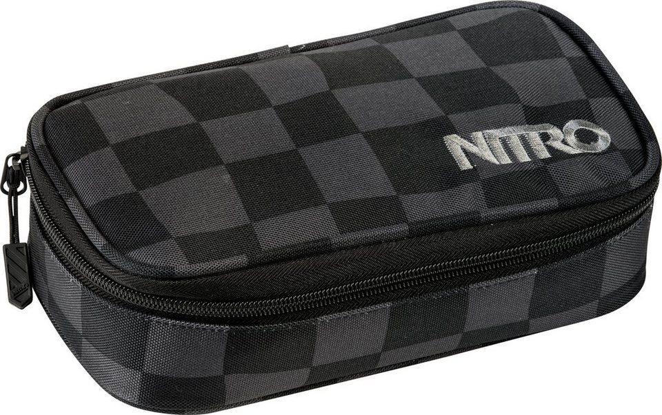 Nitro Federmäppchen, »Pencil Case XL Black Checker« in schwarz