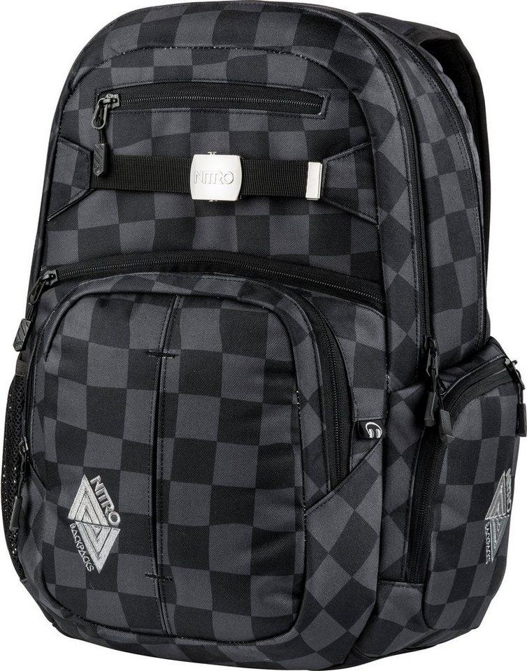 Nitro Schulrucksack, »Hero Black Checker« in schwarz