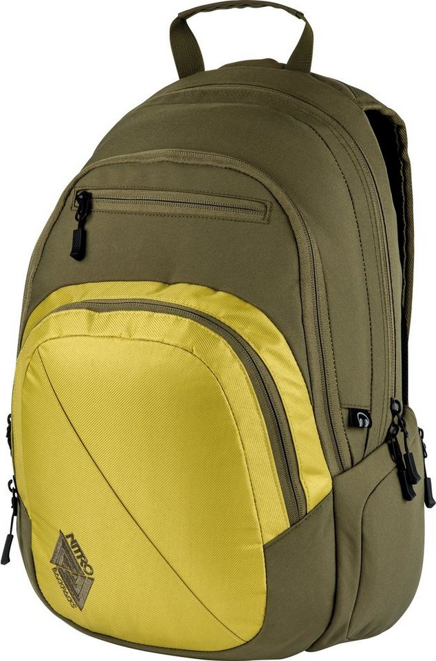 Nitro Schulrucksack, »Stash Golden Mud« in olive