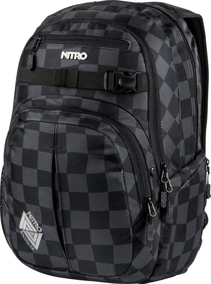 Nitro Schulrucksack, »Chase Black Checker« in schwarz
