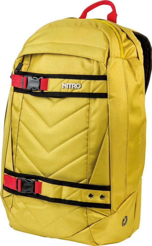 Nitro Rucksack, »Aerial Golden Mud« in gelb