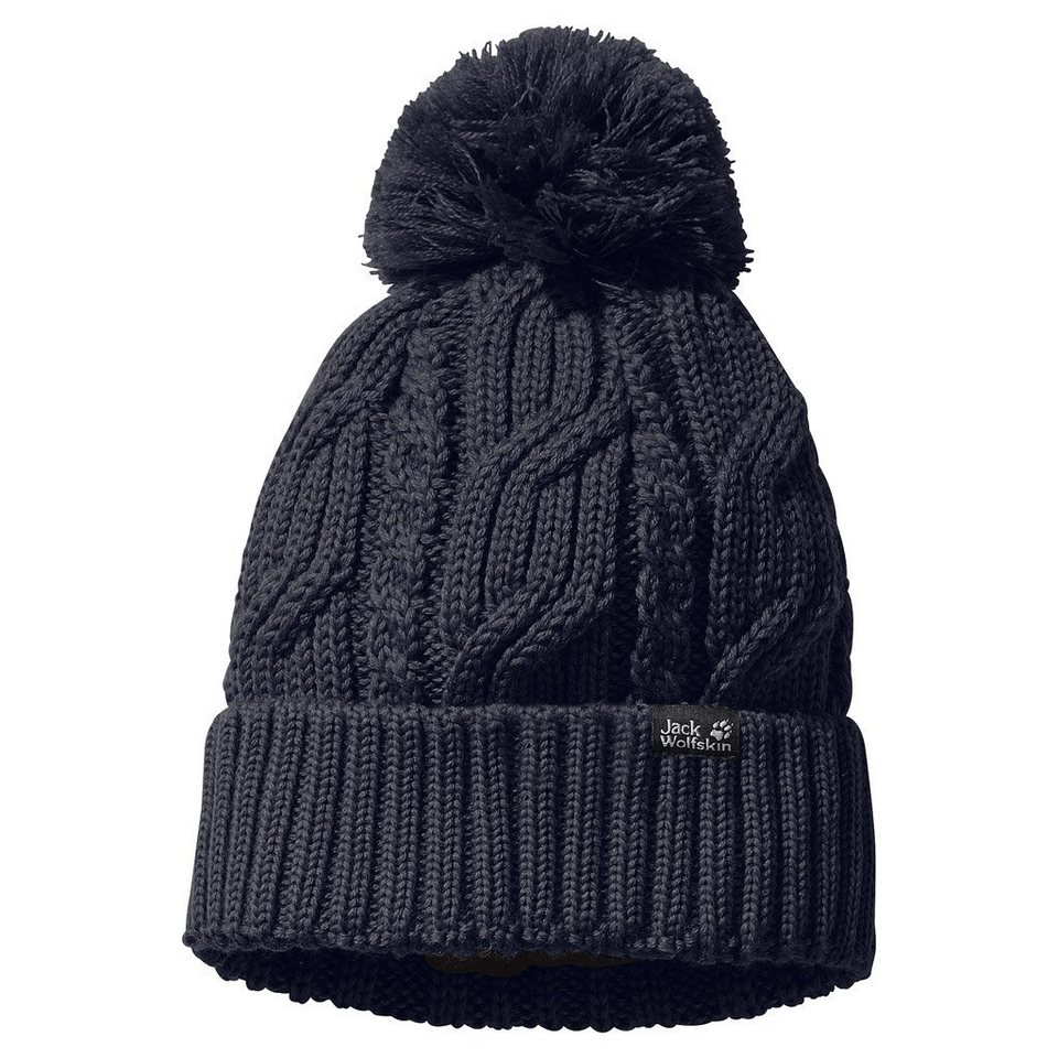 Jack Wolfskin Strickbommelmütze »STORMLOCK POMPOM BEANIE« in night blue