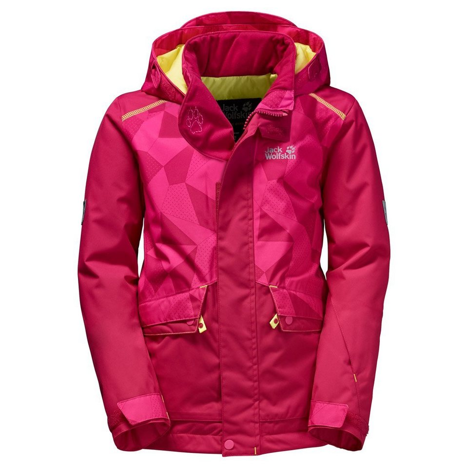Jack Wolfskin Skijacke »SNOW RIDE JACKET KIDS« in azalea red