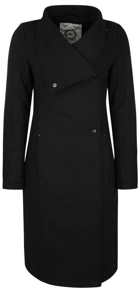 DREIMASTER Mantel lang in schwarz