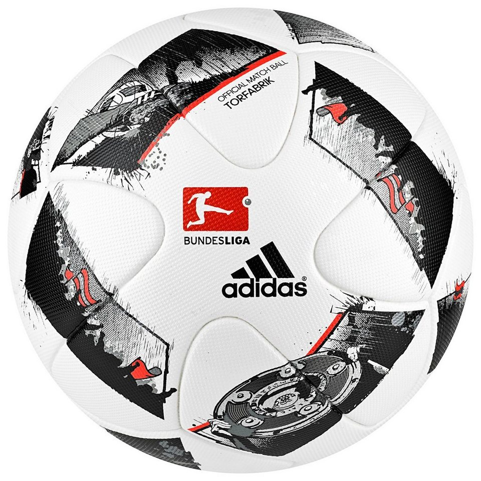 adidas Performance Torfabrik Offizieller Matchball 2016/2017 in weiß / schwarz