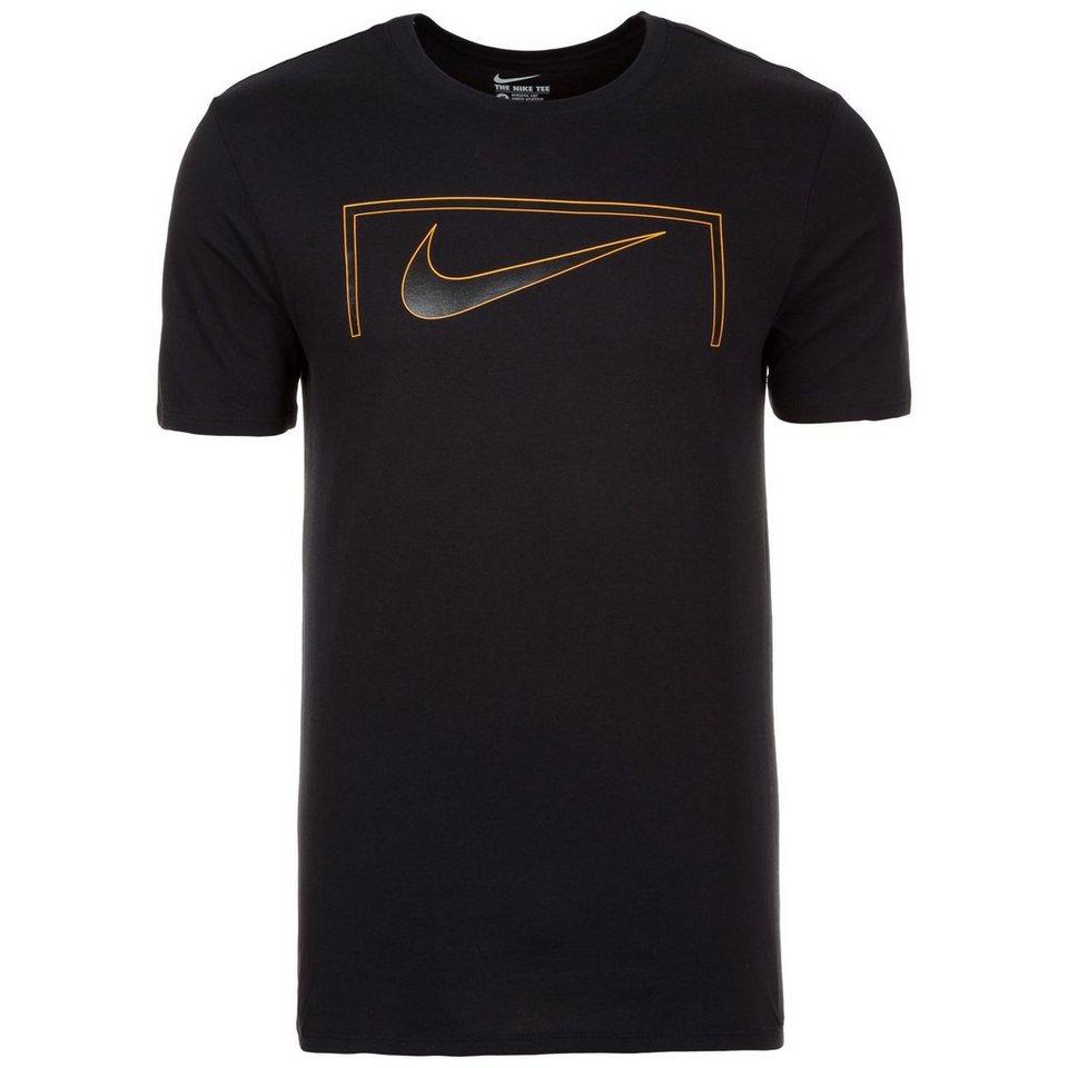 NIKE Swoosh Goal T-Shirt Herren in schwarz