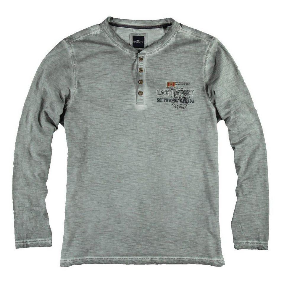 engbers T-Shirt in Zementgrau