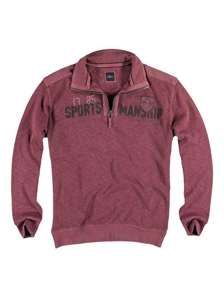 engbers Sweatshirt Stehbund in Weinrot